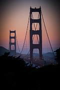 Golden Gate Framed Prints - Golden Gate In Orange Light Framed Print by Ralf Kaiser