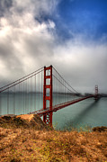 Golden Gate Photos - Golden Gate in The clouds by Peter Tellone