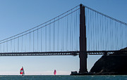 Sausalito Prints - Golden Gate to Sausalito Print by J H Clery