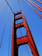 Bay Bridge Framed Prints - Golden Gate Tower Framed Print by Rona Black