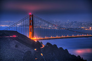 Bay Bridge Posters - Golden Gate Twilight Poster by Shawn Everhart