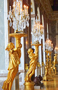 Palace Of Versailles Prints - Golden Girls  Print by Linda Marshutz