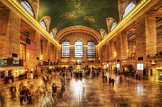 Urban Subway Framed Prints - Golden Grand Central Framed Print by Yhun Suarez