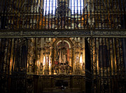 True Cross Photo Prints - Golden Grills Of Segovia Cathedral Print by Lorraine Devon Wilke