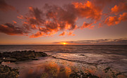 Top Seller Prints - Golden Hawaii Sunset  Print by Tin Lung Chao