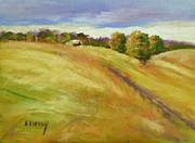 Sunday Drive Prints - Golden Hills Print by Sally Simon