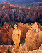 Inspiration Point Prints - Golden Hoodoo Print by Ray Mathis