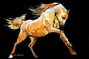 Juan Jose Espinoza - Golden Horse In Black