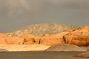 Desert Lake Photo Posters - Golden Hour at Lake Powell Poster by Julie Niemela