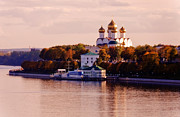 Domes Prints - Golden Hour. Yaroslavl. Russia Print by Jenny Rainbow