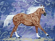 Scottsdale Drawings - Golden investment palomino by Lucka SR