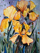 Maggie Turner - Golden Iris Painting