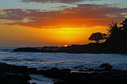 Brian Governale Prints - Golden Kauai Sunset Print by Brian Governale