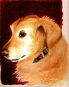 Working Dogs Framed Prints - Golden Labrador Framed Print by Nan Wright