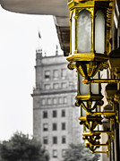 White Frame House Prints - Golden Lantern Print by Sotiris Filippou