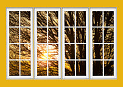 Picture Window Frame Photos Art - Golden Light Shining Through Picture Window View by James Bo Insogna