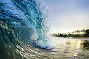 Surf Art Photo Framed Prints - Golden Mile Framed Print by Sean Davey