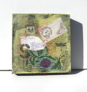 Postmark Originals - Golden Mixed Media by Brooke Baxter Howie