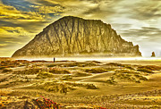 Morro Bay Prints - Golden Morro Bay Print by Camille Lopez
