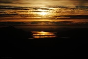 Golden Norse Fjordland Sunset Print by David Broome