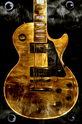 Guitar Photographs Posters - Golden One Poster by Deena Athans
