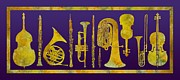 Trombone Art - Golden Orchestra by Jenny Armitage