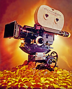 Motion Picture Prints - Golden Panaflex Print by Day Dreams Day Dreams