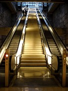 Escalator Prints - Golden Passageway to Light Print by Mountain Dreams