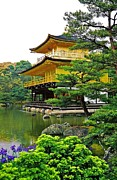Juergen Framed Prints - Golden Pavilion - Kyoto Framed Print by Juergen Weiss