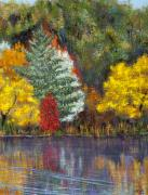 Missing You Paintings - Golden Ponds in Autumn by Margaret Bobb