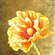 War Heroes Posters - Golden Poppy Poster by Sharon Lisa Clarke