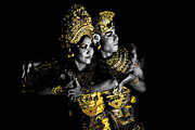 Ramayana Photo Prints - Golden Rama Golden Sita Print by Prabhakar Street