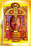 Mystery Pyrography Posters - Golden Reflection of Atlantis Poster by Hartmut Jager