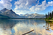 Awesome Prints - Golden Reflections On Stanley  Lake Print by Robert Bales