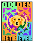 Puppies Digital Art - Golden Retriever Graphic by Michelle Guillot