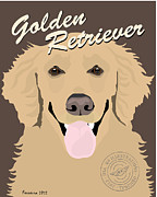 Retriever Digital Art - Golden Retriever by Michael Ferreira