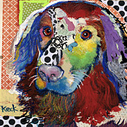 Dog Pop Art Paintings - Golden Retriever  by Michel  Keck