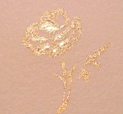 Rose Drawings Prints - Golden Rose Print by Christine Corretti
