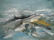 Ski Paintings - Golden Run by Edward Wolverton