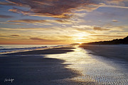 Beach Photographs Posters - Golden Sands Poster by Phill  Doherty