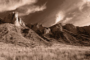 Hoodoos Prints - Golden Sentries Print by Peter Olsen