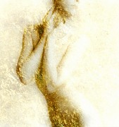 Golden Digital Art - Golden shower by Gun Legler