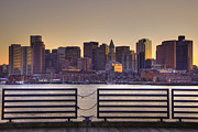 Joann Vitali - Golden Sunset Over Boston
