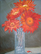 Flower Still Life Prints Posters - Golden Poster by Susan Richardson