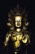 Statues Digital Art Prints - Golden Tara Print by Tim Gainey