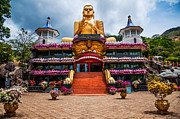 Ceylon Prints - Golden Temple in Dambulla 1. Sri Lanka Print by Jenny Rainbow