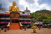Ceylon Prints - Golden Temple in Dambulla. Sri Lanka Print by Jenny Rainbow