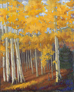Santa Fe Pastels Originals - Golden Treasure by Mary Olivera