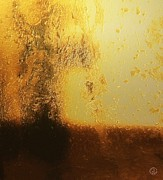 Abstract Landscape Art - Golden tree by Gun Legler