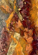 Abstraction Mixed Media - Golden Umber by Cole Black